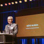 Götz Ulrich, Landrat des Burgenlandkreises hält eine Rede