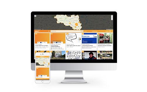INKA+ User Interface auf Desktop und Mobil